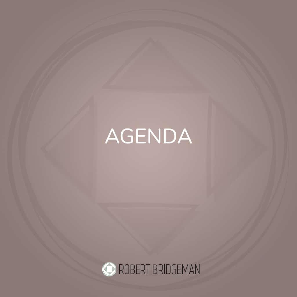 Agenda Robert Bridgeman